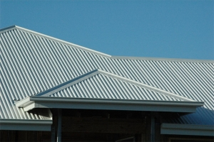 Corrugated roofing.